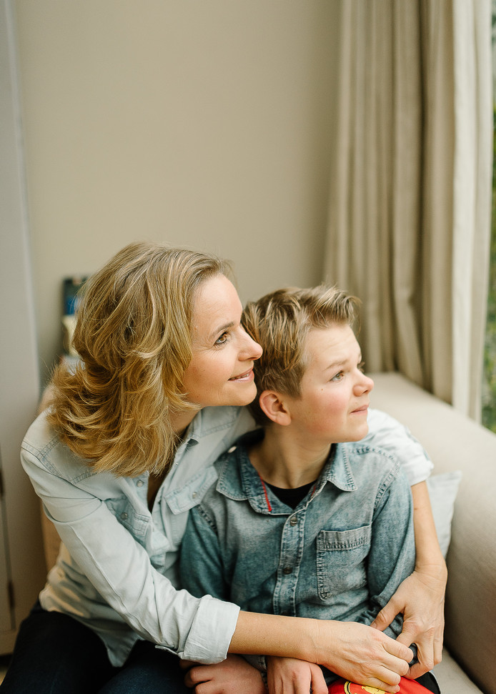 Linda Romein en zoon Lars