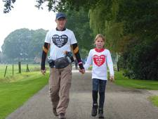 Evi (8) en opa (62) lopen 'hart' voor goede doel