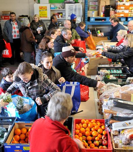Wachtkamer voedselbank laatste maanden weer vol