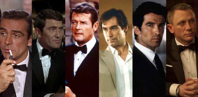 Alle James Bond-acteurs.