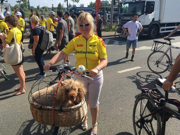 Hondje Judy was één van de opmerkelijke deelnemers tijdens de recordpoging.