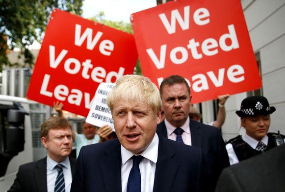 Brits premier Boris Johnson blijft erbij dat de 'backstop' uit het echtscheidingsakkoord met de EU moet.