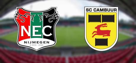 Ambitieus NEC moet vanavond knokken tegen SC Cambuur