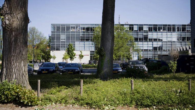 Het oude deel van de Rietveld Academy aan de Frederik Roeskestraat. Foto Ruud van Zwet Beeld