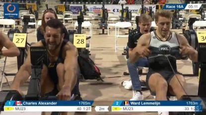 Ward Lemmelijn van PXL Roeiteam is wereldkampioen indoor roeien na spannende nek-aan-nekrace