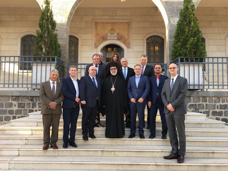 Een delegatie van AfD op bezoek in Syrië. Beeld Twitter @AfD