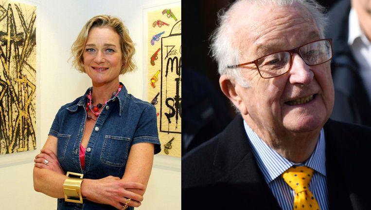 Delphine Boël en Koning Albert II. Boël weigerde een minnelijke schikking met Albert II voor ze in 2013 naar de rechter stapte.