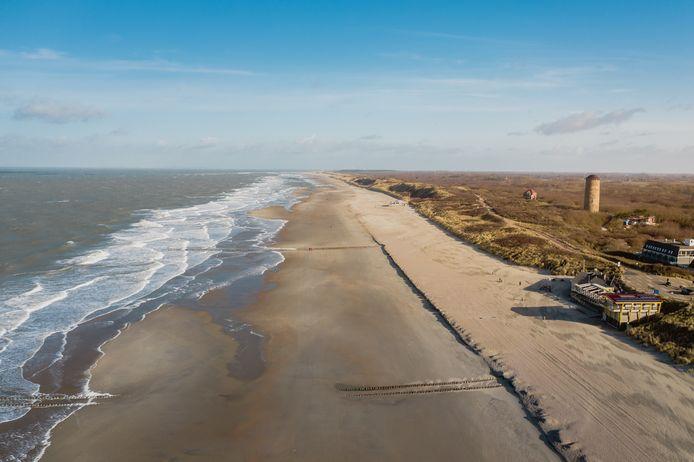 Strand bij Domburg (Zeeland).