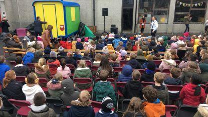Verbouwde bouwkeet wordt leesparadijs voor kinderen van KBO Sint-Jozef