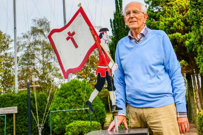 Remy Lammers is zestig jaar lid van het St. Lambertusgilde in Someren-Eind.
