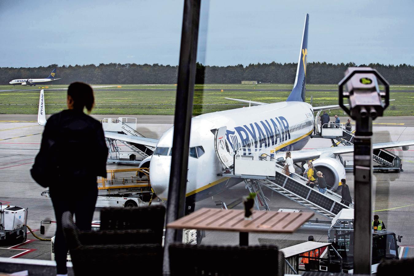 Ryanair op Eindhoven Airport.