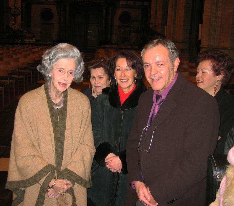 Koningin Fabiola bezocht Vilvoorde in 2004. Gemeenteraadslid Fransisco Agredano ontmoette haar toen.
