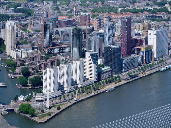 Het Wijnhaveneiland in Rotterdam.