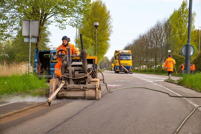 Twee jaar geleden waren er werkzaamheden aan de Oude Veerseweg.