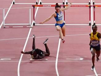 Pech voor Anne Zagré: stevige valpartij op 100 meter horden en weg olympische limiet