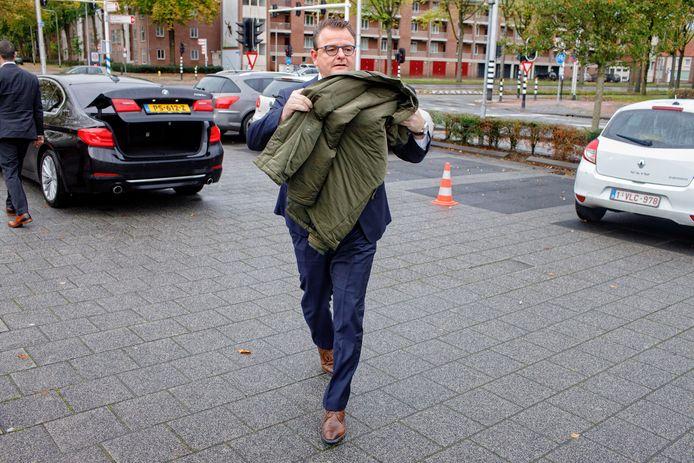Renze Bergsma arriveert bij een crisisberaad van het CDA. Foto Dolph Cantrijn