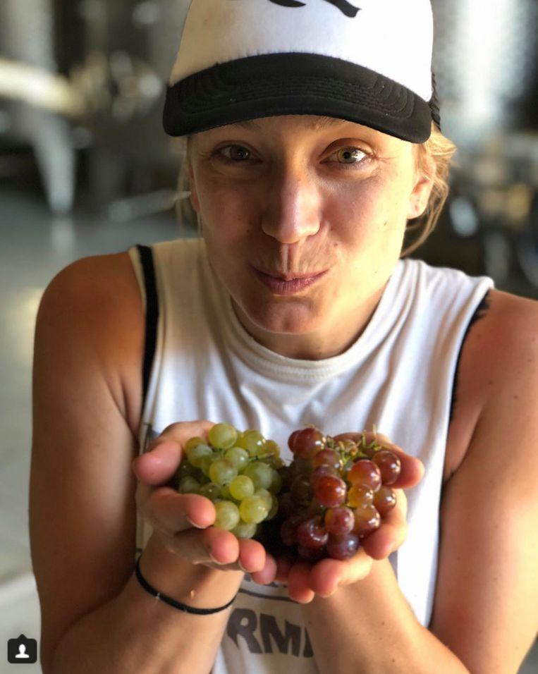 Lotte met druiven Beeld