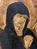 Maria voor de restauratie.