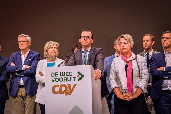 Kris Peeters, Hilde Crevits, Wouter Beke en Joke Schauvliege.