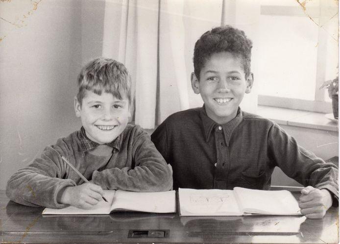 Arie van Dommelen met zijn halfbroer Bennie.