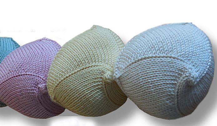 Gebreide borstprotheses van Knitted Knockers.