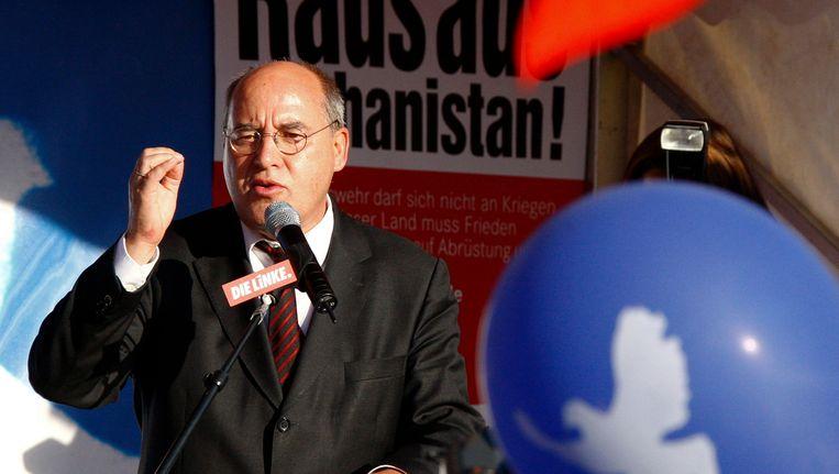 Gregor Gysi spreekt in Berlijn, in 2009 Beeld REUTERS
