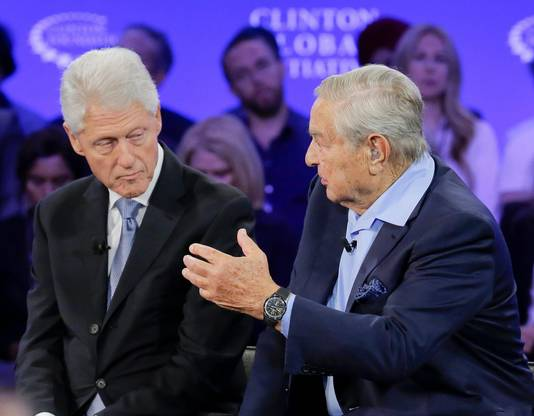 George Soros en Bill Clinton