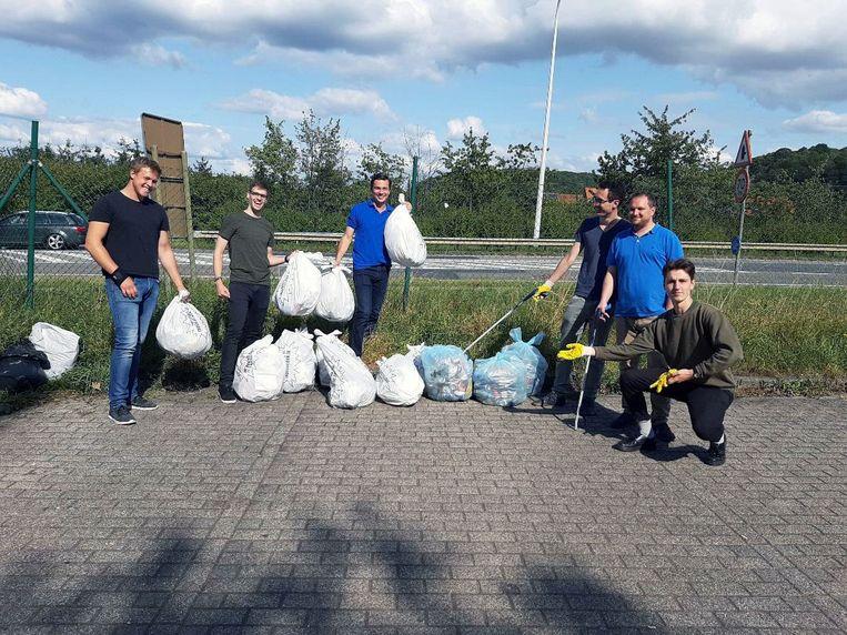 Jong Vld Leuven vond tijdens een opruimactie vuilniszakken met daarin slachtafval van een schaap.