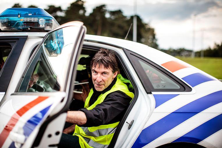 Luk Alloo, presentator van het VTM-programma 'Alloo bij de Wegpolitie' (hier op een archiefbeeld), zat in een van de achtervolgende politievoertuigen.