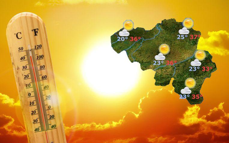 Het KMI verwacht in de toekomst regelmatiger zeer hoge temperaturen.