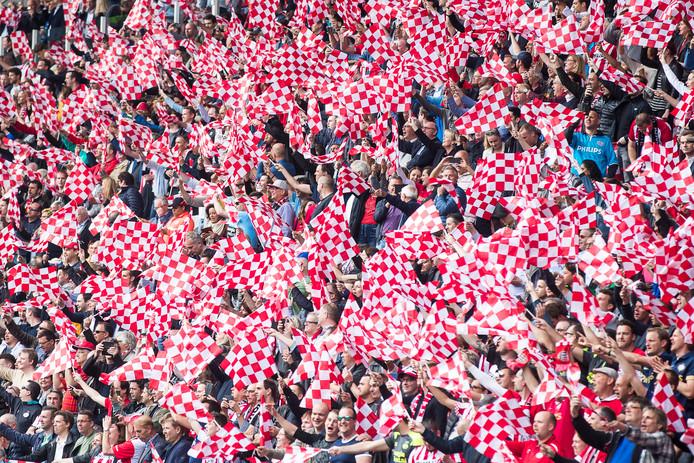 PSV-supporters in het Philips Stadion.