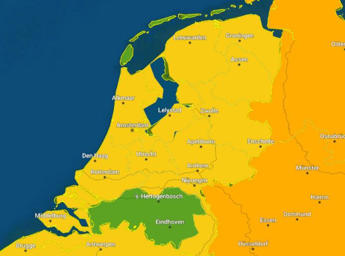 Dinsdag geldt code groen in Brabant