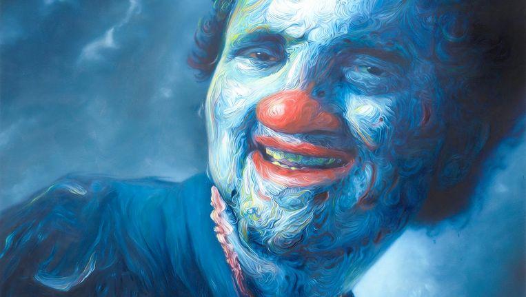 In zijn werk Poor Art geeft Brown Rembrandt een clownsneus. 'Ik maak hem belachelijk en tegelijk vereer ik hem' Beeld Glenn Brown