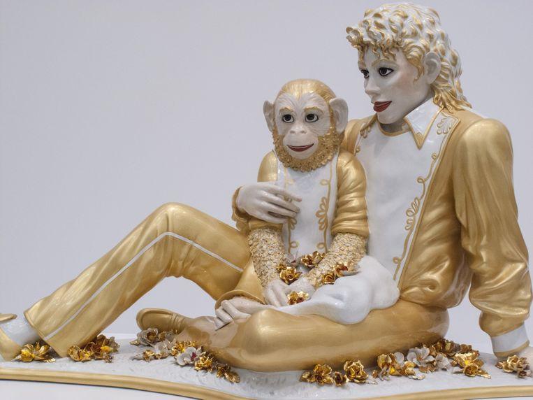 Michael Jackson and Bubbles van Jeff Koons. Beeld Getty Images