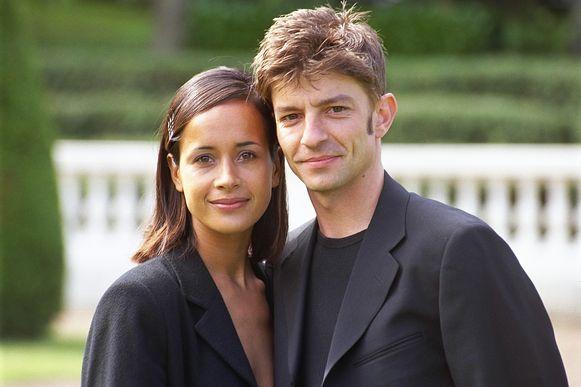 Koen Wauters en Carolijn Lilipaly in 2002.