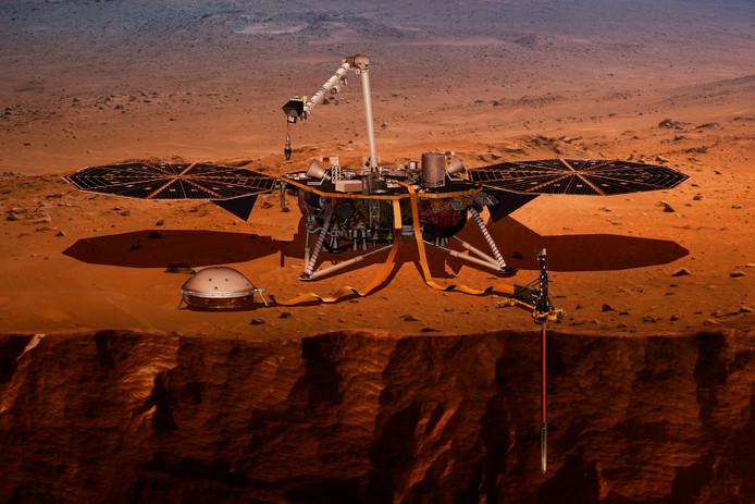 InSight zal als eerste Marslander diep in de grond boren om onderzoek te doen.
