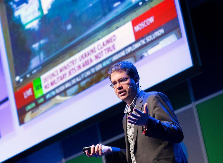 Eliot Higgins, oprichter van onderzoekscollectief Bellingcat. Beeld anp