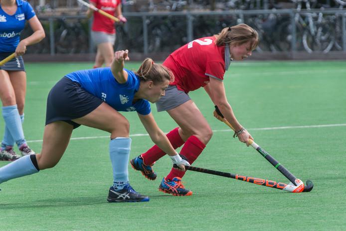 De hockeysters van Zevenaar verloren van Twente. Archieffoto