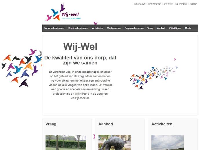Schermafbeelding website dorpstichting Wij-Wel.