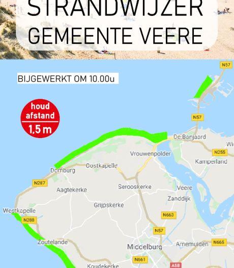 Deze website laat zien hoe druk het is op de stranden in Veere
