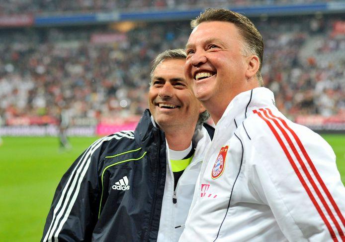 Louis van Gaal en José Mourinho