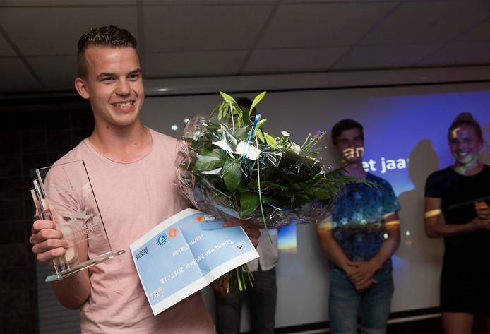 Prijswinnaar Harm Dieker van Ajax.