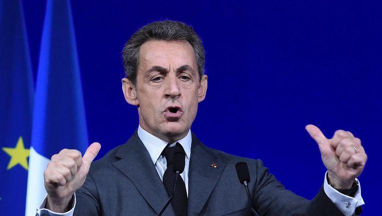 Oud-president Sarkozy. Beeld AFP