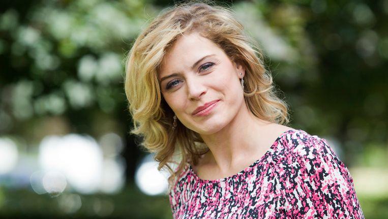 Dina Tersago, presentatrice van 'Boer zkt vrouw'.