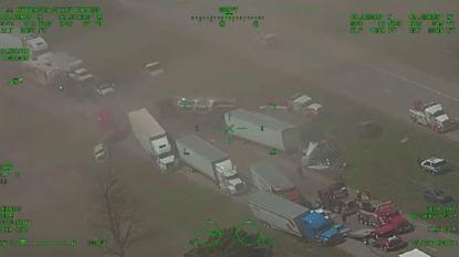 Indrukwekkende luchtbeelden: zandstorm veroorzaakt gigantische kettingbotsing in Nebraska