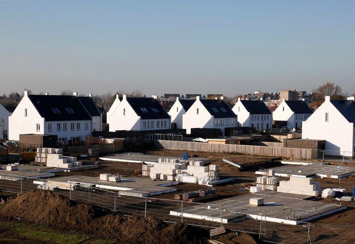 Nieuwbouwwijk Witte Brug, op de voormalige hockeyvelden aan de rand van Hulst.