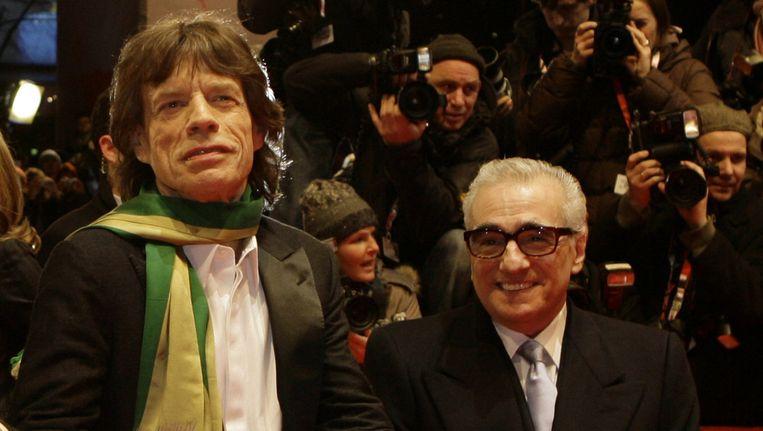 Mick Jagger en Martin Scorcese.