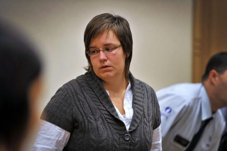Els Clottemans bij het aanhoren van haar vonnis.