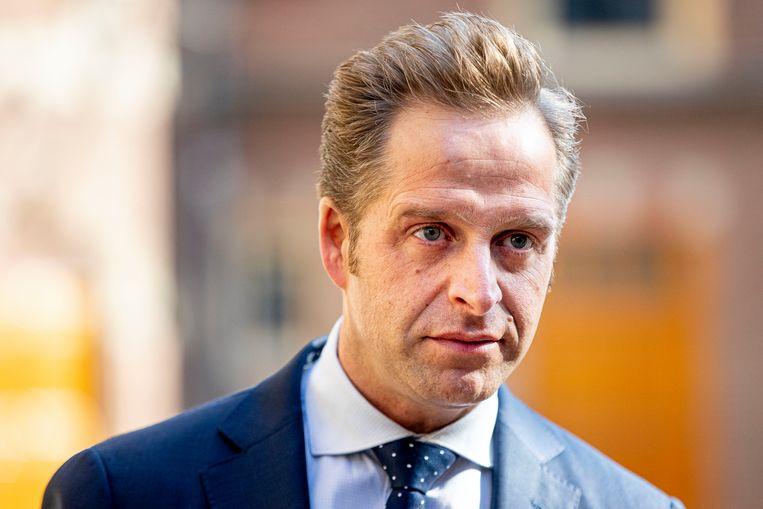 Minister Hugo de Jonge van volksgezondheid komt aan voor de wekelijkse ministerraad op het Binnenhof, 27 Maart 2020. Foto BSR Patrick van Katwijk Beeld