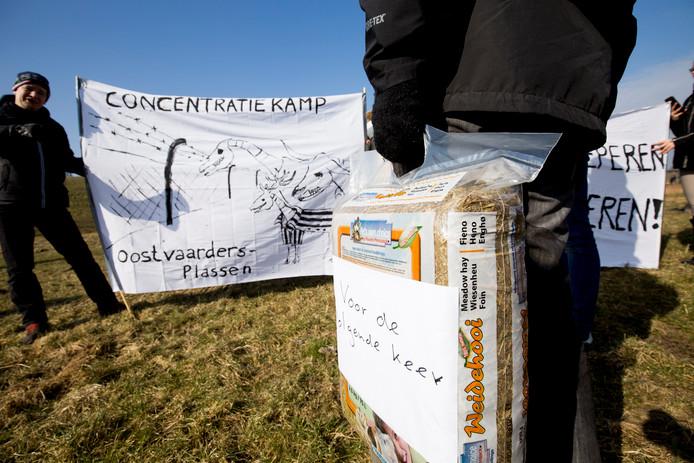 Demonstratie tegen dierenleed Oostvaardersplassen
